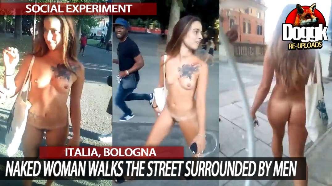 WOMEN WALKING NAKED IN PUBLIC....